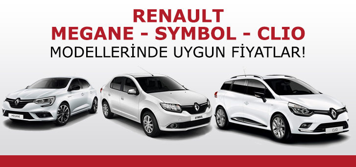 Very reasonable prices in Renault Symbol, Clio and Megane models are at İpeksoy Fleet! %>