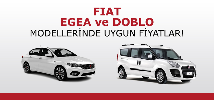Very affordable prices in Fiat Egea and Doblo models İpeksoy Filo Da! %>